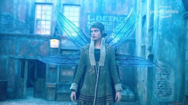 The wings of the fairy Tile Stonemoss (Cara Delevingne) on Carnival Row