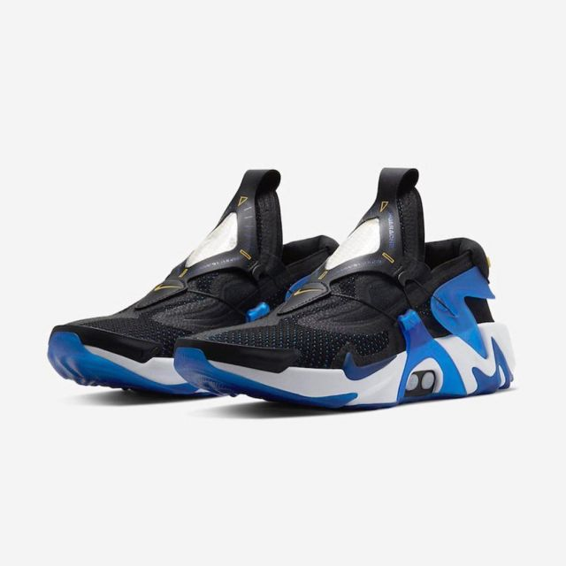 Nike Adapt Huarache Black Racer Blue (HAD to Load) on the