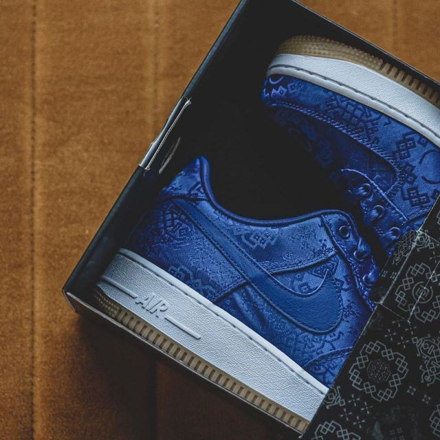 Air Force 1 Low CLOT Blue Silk on the account Instagram of