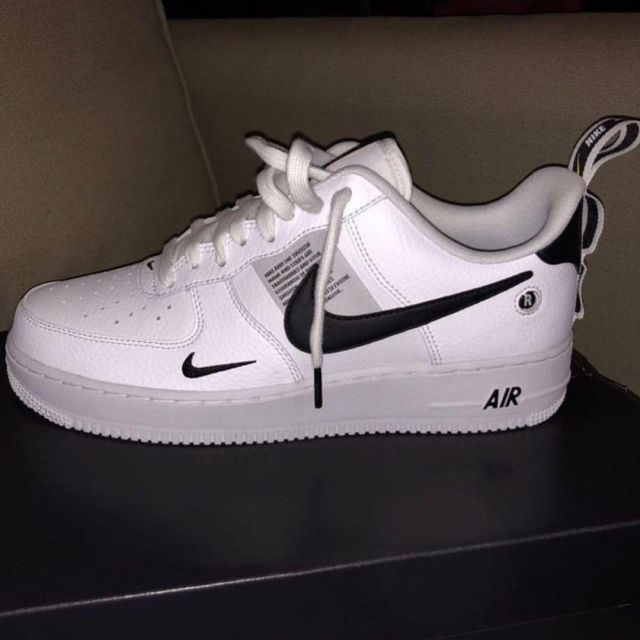 air force 1 low utility blanc