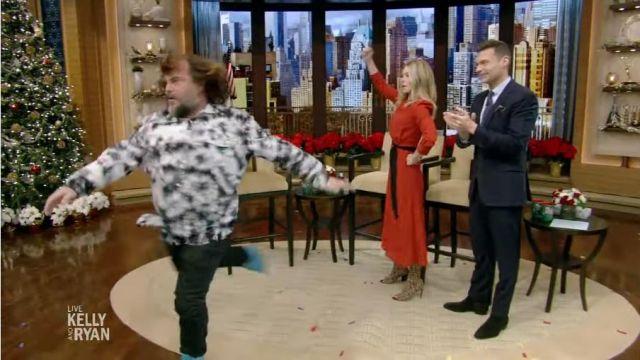 Cefinn Rouge Midi Robe portée par Kelly Ripa sur le LIVE avec Kelly et Ryan 12 décembre 2019