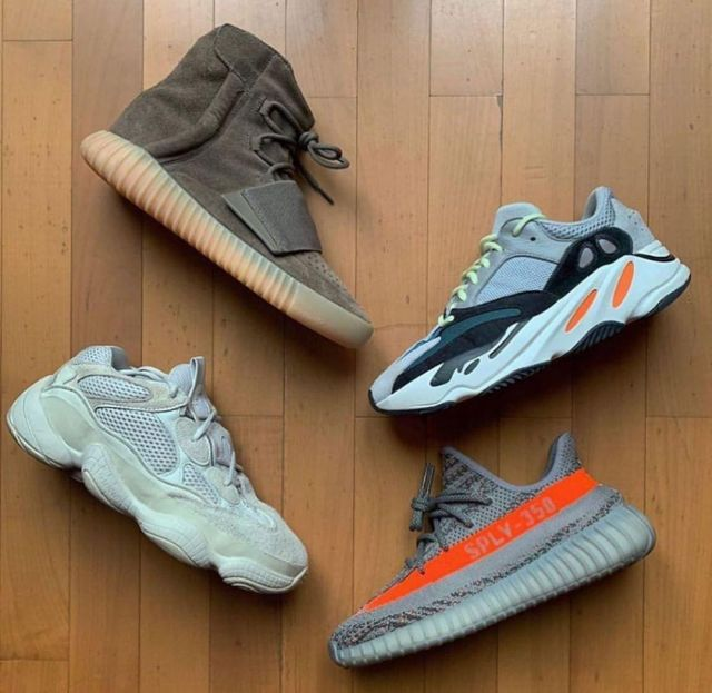 Adidas Yeezy Boost 750 Light Brown Gum (Chocolate) on the