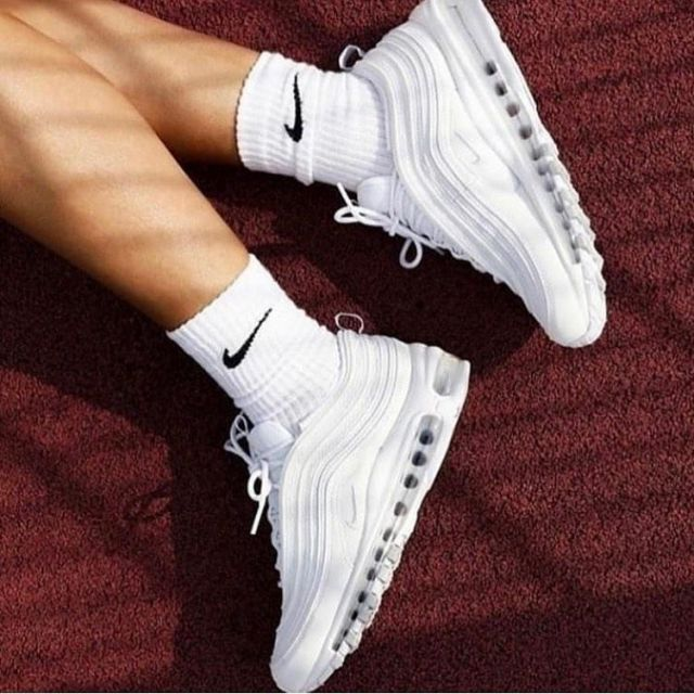 Air Max 97 Triple White Wolf Grey on the account Instagram