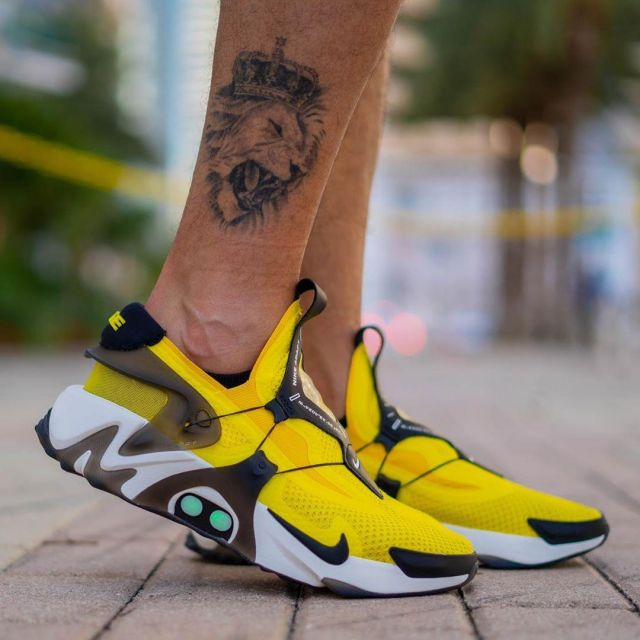 Nike Adapt Huarache Opti Yellow Had To Load On The Account Instagram Of Yankeekicks Spotern