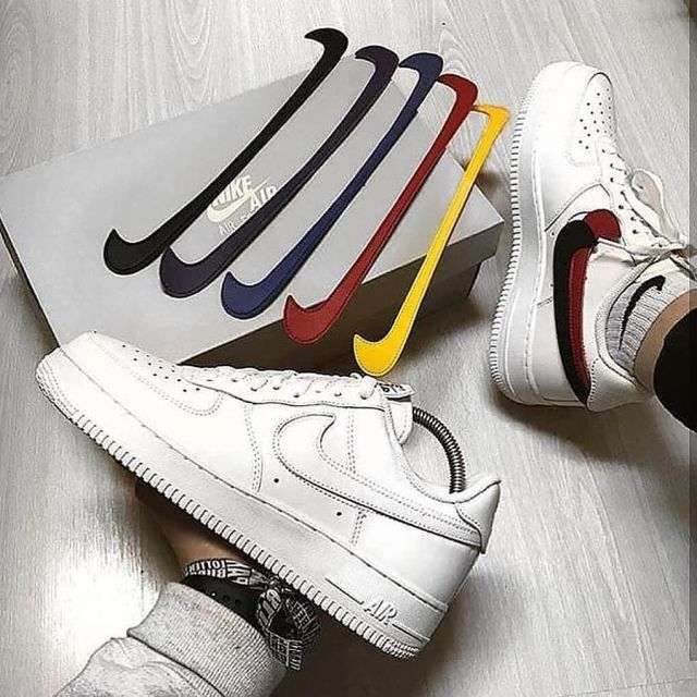 Air Force 1 Low Removable Swoosh Pack White Vachetta Tan on the ...