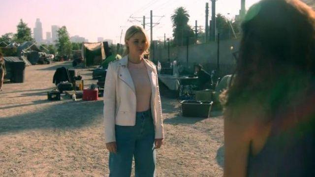 Whitte Lace-up Moto Jacket worn by Molly Hernandez (Allegra Acosta) in Marvel's Runaways Season 3 Episode 5