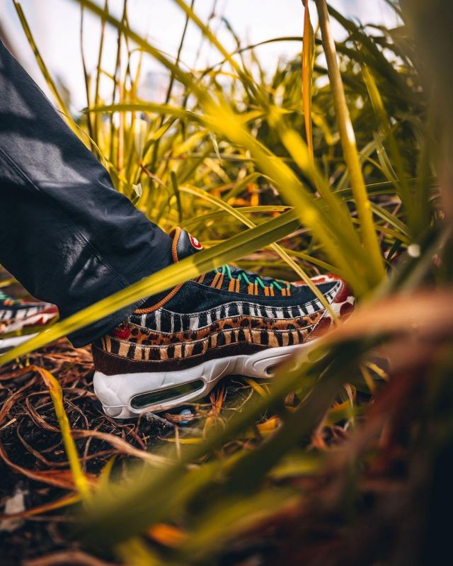 Nike Air Max 95 Atmos DLX Beast Safari Animal Pack on the