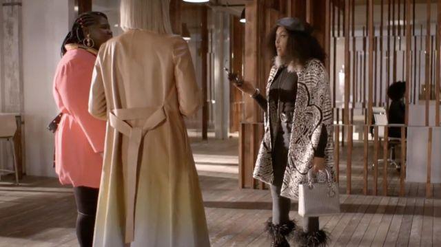 Le jean skinny noir à fourrures Veronica Beard porté par Cookie Lyon (Taraji P. Henson) dans Empire (S06E10)