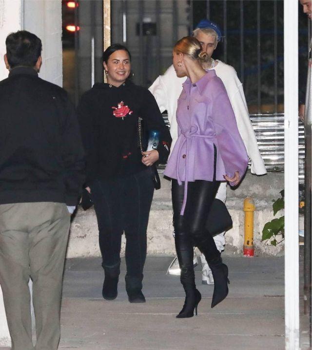 Balenciaga Sock Boots of Hailey Bieber Going to Church December 18, 2019
