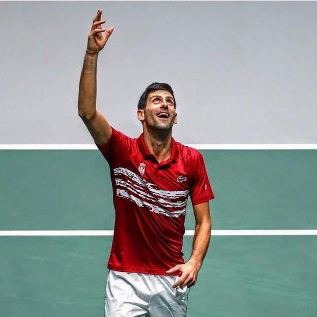 Lacoste Polo Sport X Novak Djokovic In Stretch Jersey Printed In Novak Djokovic On The Account Instagram Of Djokovic Spotern