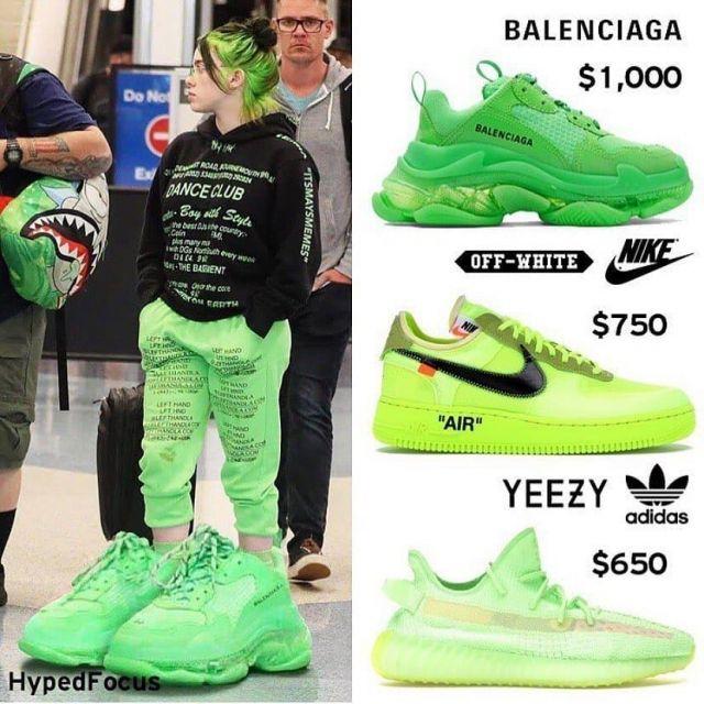 Balenciaga Triple S Neon Green Clear