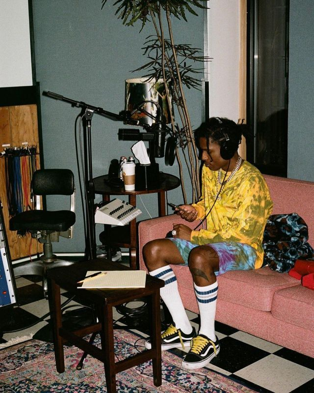 white lace-up yellow worn by A$AP Rocky