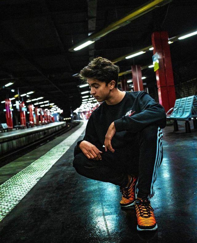 La paire de chaussures Nike TN de Inoxtag sur son compte Instagram ...