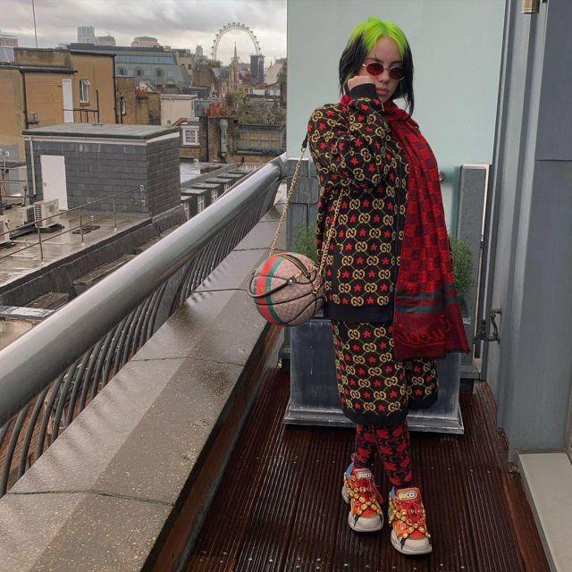 Gucci Black Gg Star Shorts Of Billie Eilish On The Instagram Account Billieeilish Spotern