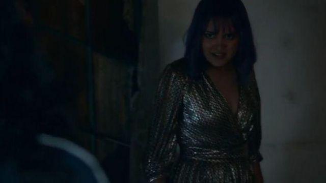 Silver Wrap Front Dress worn by Gert Yorkes (Ariela Barer) in Marvel's Runaways Season 3 Episode 6