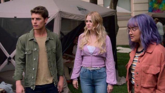 Purple Button Front Smocked Blouse worn by Karolina Dean (Virginia Gardner) in Marvel's Runaways Season 3 Episode 7