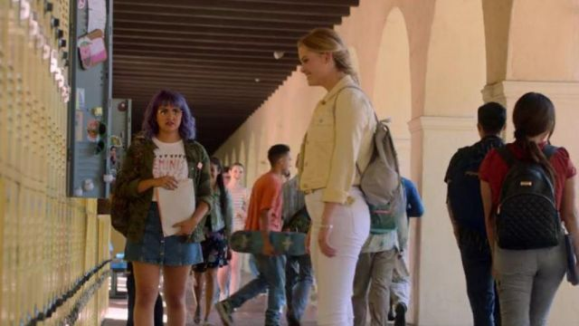 Denim Button-Front Skirt worn by Gert Yorkes (Ariela Barer) in Marvel's Runaways Season 3 Episode 10