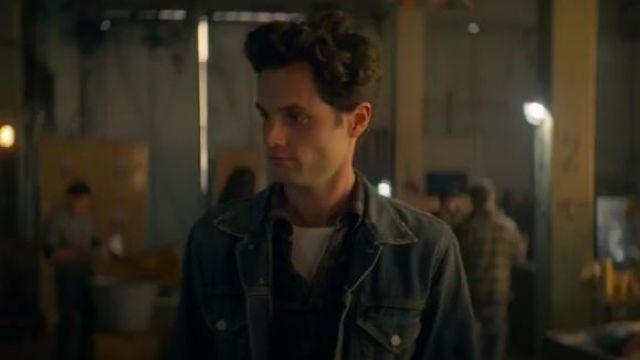 Blue Trucker Jacket worn by Joe Goldberg (Penn Badgley) in YOU Season 2 Episode 2