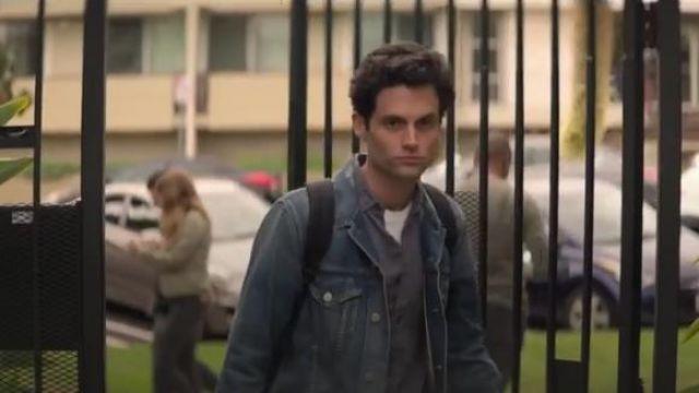 Blue denim jacket worn by Joe Goldberg (Penn Badgley) in YOU Season 2 Episode 3