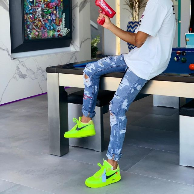 Air Force 1 Off White Volt Worn By Moha Mmz On The Account