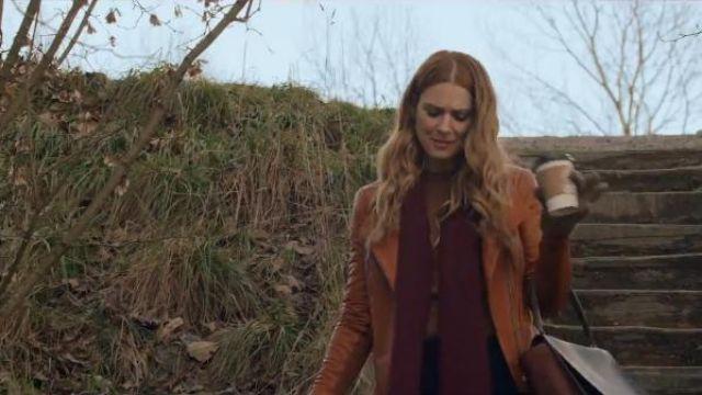 Leather Scuba Jacket worn by Melinda Monroe (Alexandra Breckenridge) in Virgin River Season 1 Episode 1