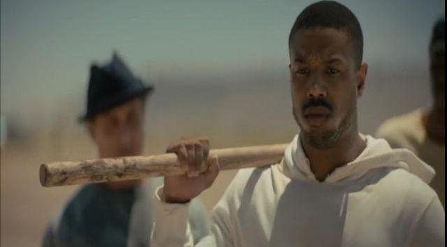 White Hoodie worn by Adonis Johnson (Michael B. Jordan) as seen in Creed 2