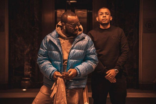 The Down Jacket Blue Shiny Dior De Maitre Gims On His Account Instagram Gims Spotern
