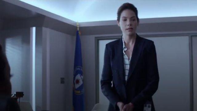 Double-Breasted Blazer worn by Eva Geller (Michelle Monaghan) in Messiah Season 1 Episode 1