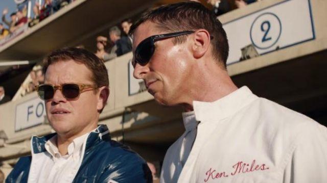 Le blouson bleu de Carroll Shelby (Matt Damon) dans Le Mans 66