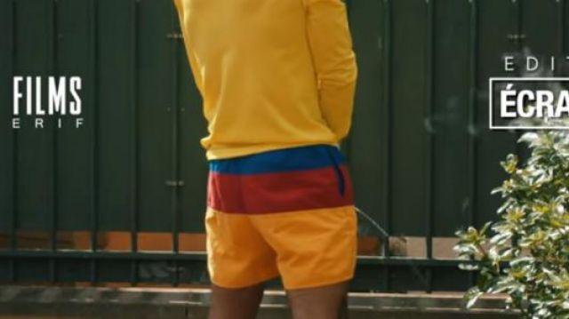 Le short de la Colombie porté par Gambi dans Gambi - Hé oh (Clip officiel)