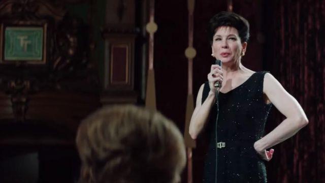 Black shine dress of Judy Garland (Renée Zellweger) in Judy