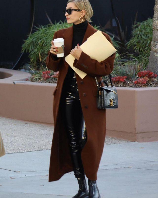 Celine Edge Sunglasses worn by Hailey Baldwin Santa Monica January 14, 2020