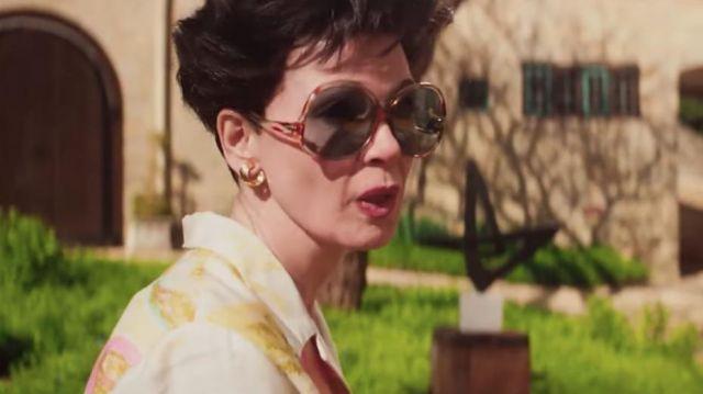 Oversize round sunglasses worn by Judy Garland (Renée Zellweger) in Judy