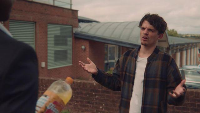 Tartan Bomber Jacket worn by Sean Wiley (Edward Bluemel) as seen in Sex Education S01E07