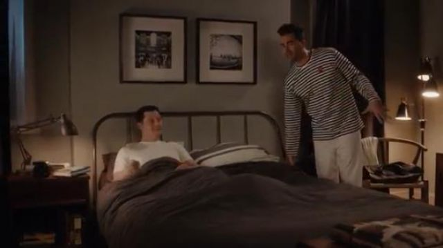 Striped Long-Sleeve Tee worn by David Rose (Daniel Levy) in Schitt's Creek Season 6 Episode 2