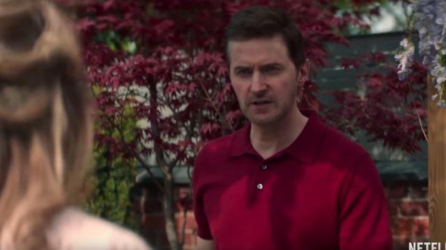 Red polo of Adam Price (Richard Armitage) in The Stranger (Season 1)