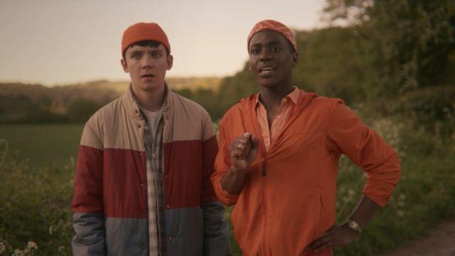 Colorblock Jacket worn by Otis (Asa Butterfield) in Sex Education S01E02