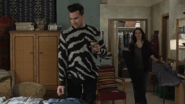 BoohooMAN Zebra surdimensionné pull de David Rose (Daniel Levy) dans Schitt s Creek (S06E03)