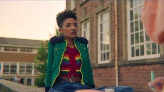 Striped Rainbow Tank Top worn by Ola Nyman (Patricia Allison) in Sex Education Season 2 Episode 2