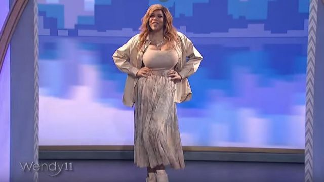 H&m Tulle Circle Skirt - Light beige/marble-patterned worn by Wendy Williams on The Wendy Williams Show January 20, 2020