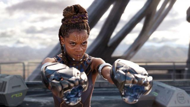 The holding of Shuri (Letitia Wright) in Black Panther