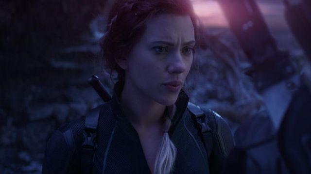 The holding of Natasha Romanoffs / Black Widow (Scarlett Johansson) in Avengers: Endgame