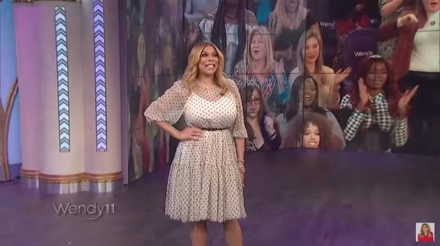 H&M White Polka Dot Dress worn by Wendy Williams on The Wendy Williams Show January 21, 2020
