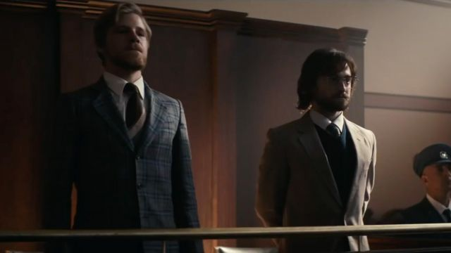 Blazer brown Tim Jenkin (Daniel Radcliffe) in Escape from Pretoria