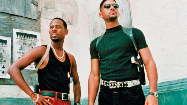 The t-shirt worn by Mike Lawrey (Will Smith) in the movie Bad Boys