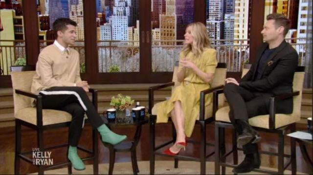 Isabel Marant Jaune Velours de la Robe portée par Kelly Ripa en LIVE avec Kelly et Ryan 27 janvier 2020