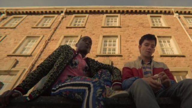 Metallic Leopard Bomber Jacket worn by Eric Effiong (Ncuti Gatwa) in Sex Education Season 2 Episode 1