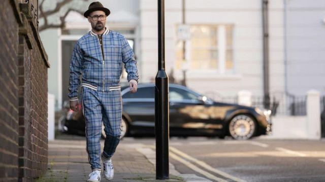 Plaid Survêtement pantalon coton ouaté porté par l'Entraîneur (Colin Farrell) chez Les Messieurs