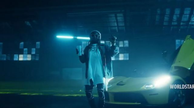 """Gucci Black Technical jersey leggings with kneepads of Lil Wayne in the music video Travis Barker - """"Gimme Brain"""" feat. Lil Wayne & Rick Ross (Official Music Video - WSHH Exclusive)"""