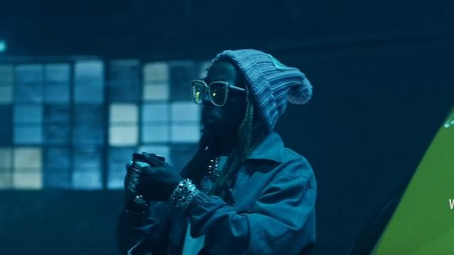 """Gucci eyewear oversized square frame sunglasses of Lil Wayne in the music video Travis Barker - """"Gimme Brain"""" feat. Lil Wayne & Rick Ross (Official Music Video - WSHH Exclusive)"""